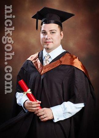 Graduation Studio Portrait - Nick Goh Photo Studio, Singapore